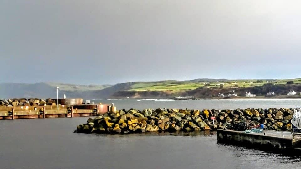 Ballycastle Harbour on the Causeway Coastal route and the Irish Feast Food tour