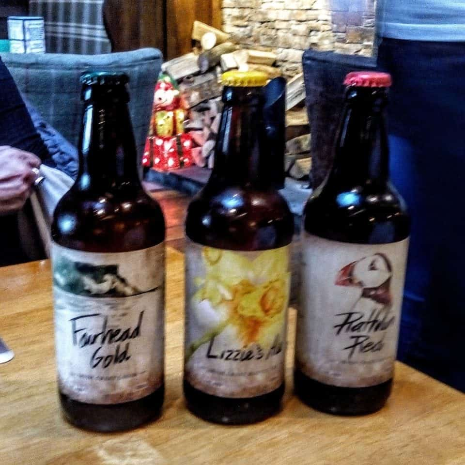 local craft brews tasted on the Ballycastle Food Tour in N. Ireland