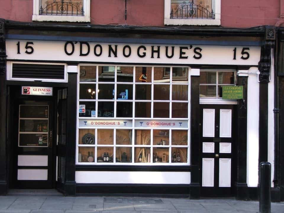 O'Donoghue's Pub Ireland famous for being the home of the Dubliners