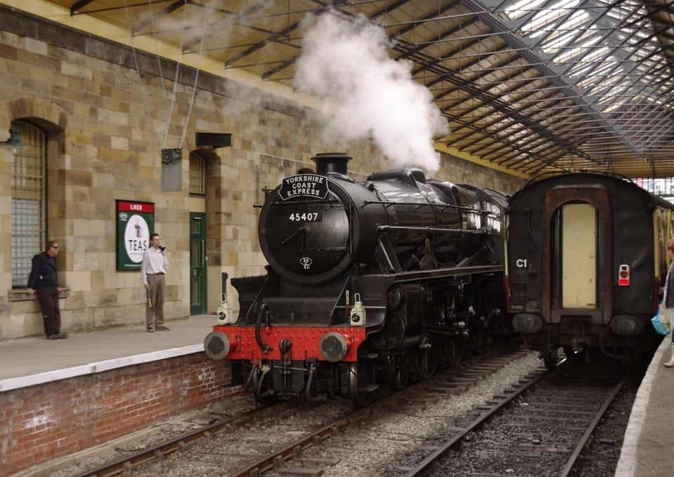 PIckering station with the North Yorkshire Moors steam train trip