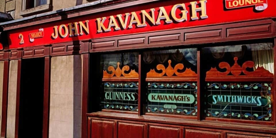 The Gravediggers Pub in Glasnevin the John Kavanagh where all the gravedigggers used to hang out and now celebrities love it