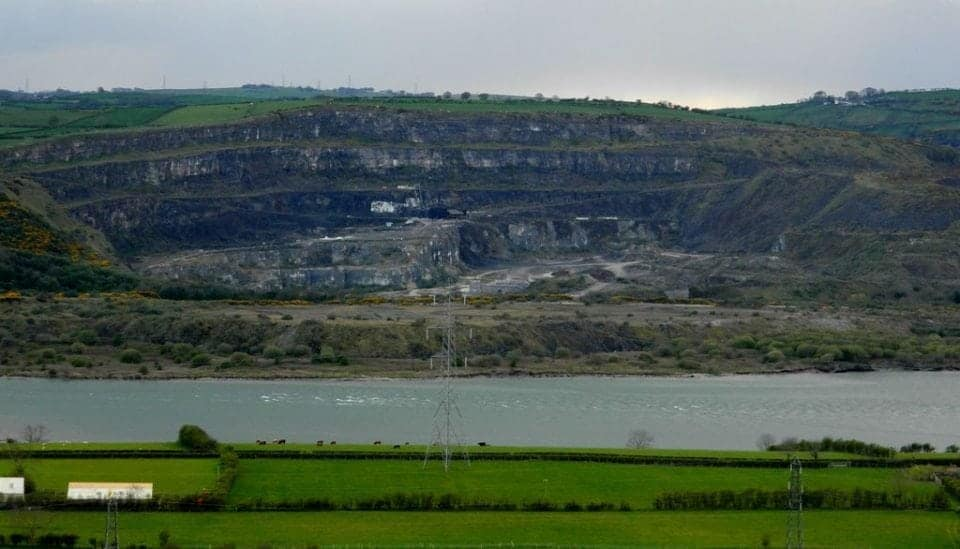 Maghermore Quarry from across the bay