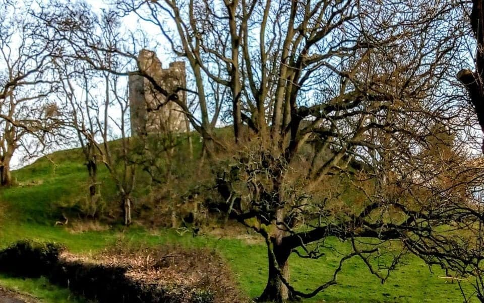 the ruins of Audleys Castle that played home to the Battle of Oxcross