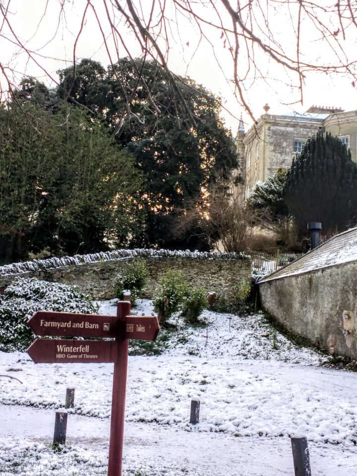 signs at the back of Castle Ward to point you in the right direction to Winterfell