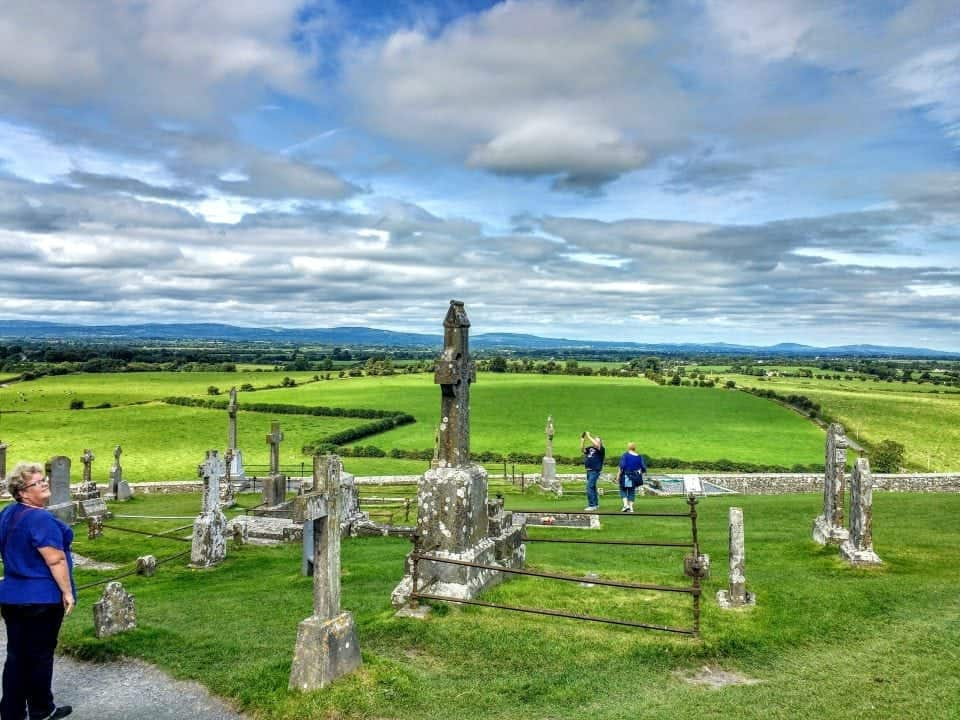 the incredible view from the Rock of Cashel over the Munster Vales a must do when touring Ireland