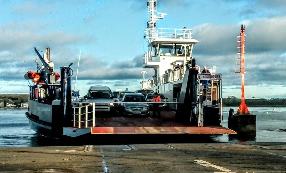 The Strangford Lough Ferry in N. Ireland - renting a car in Ireland