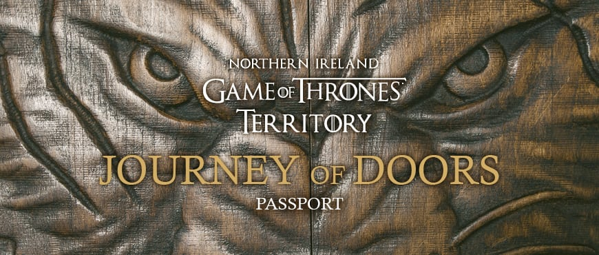 the cover of the Tour of Doors brochure for Game of Thrones