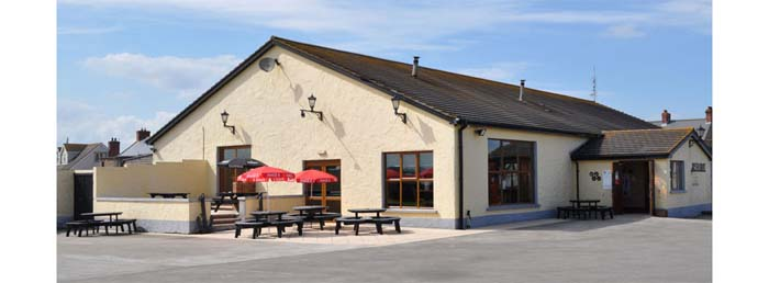 The Quay's restaurant exterior by the water in Portavogie on the Ards Peninsula