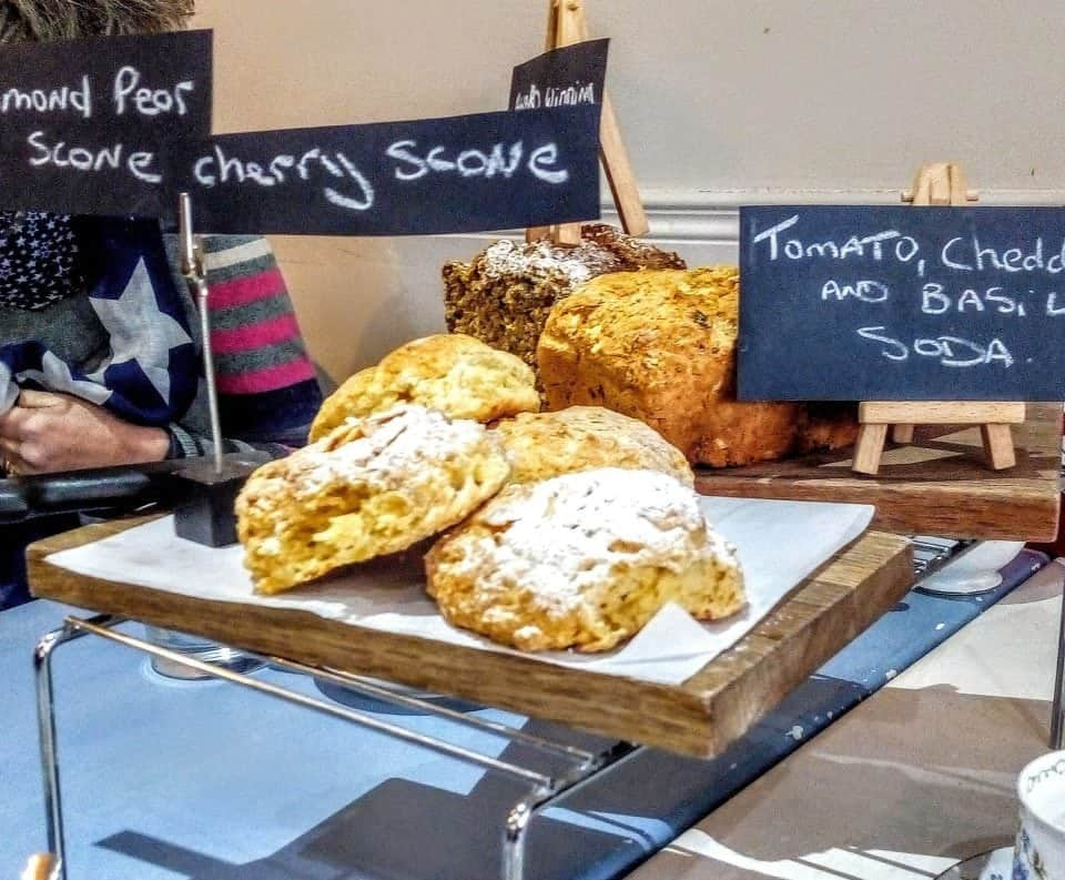 a selection of Irish scones and soda breads