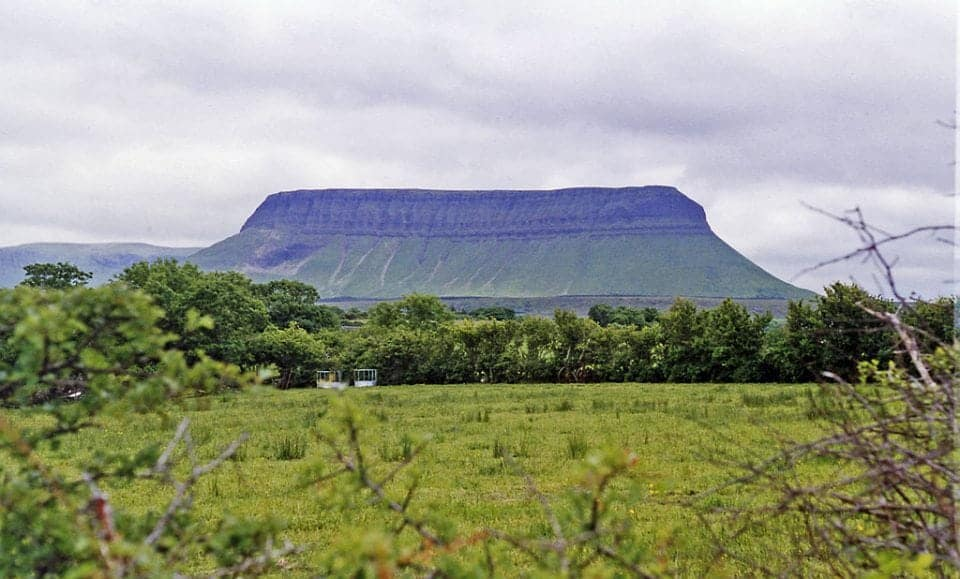 Benbulben in Sligo on the Wild Atlantic Way route