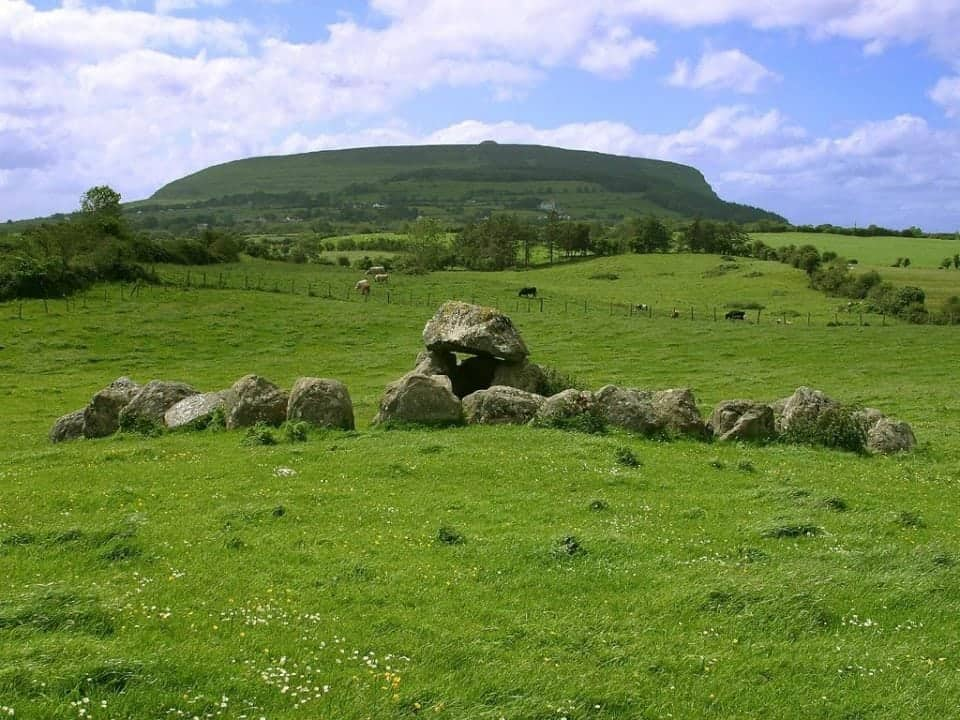 a veiw of Benbulben and Knocknarea on the Wild Atlantic Way