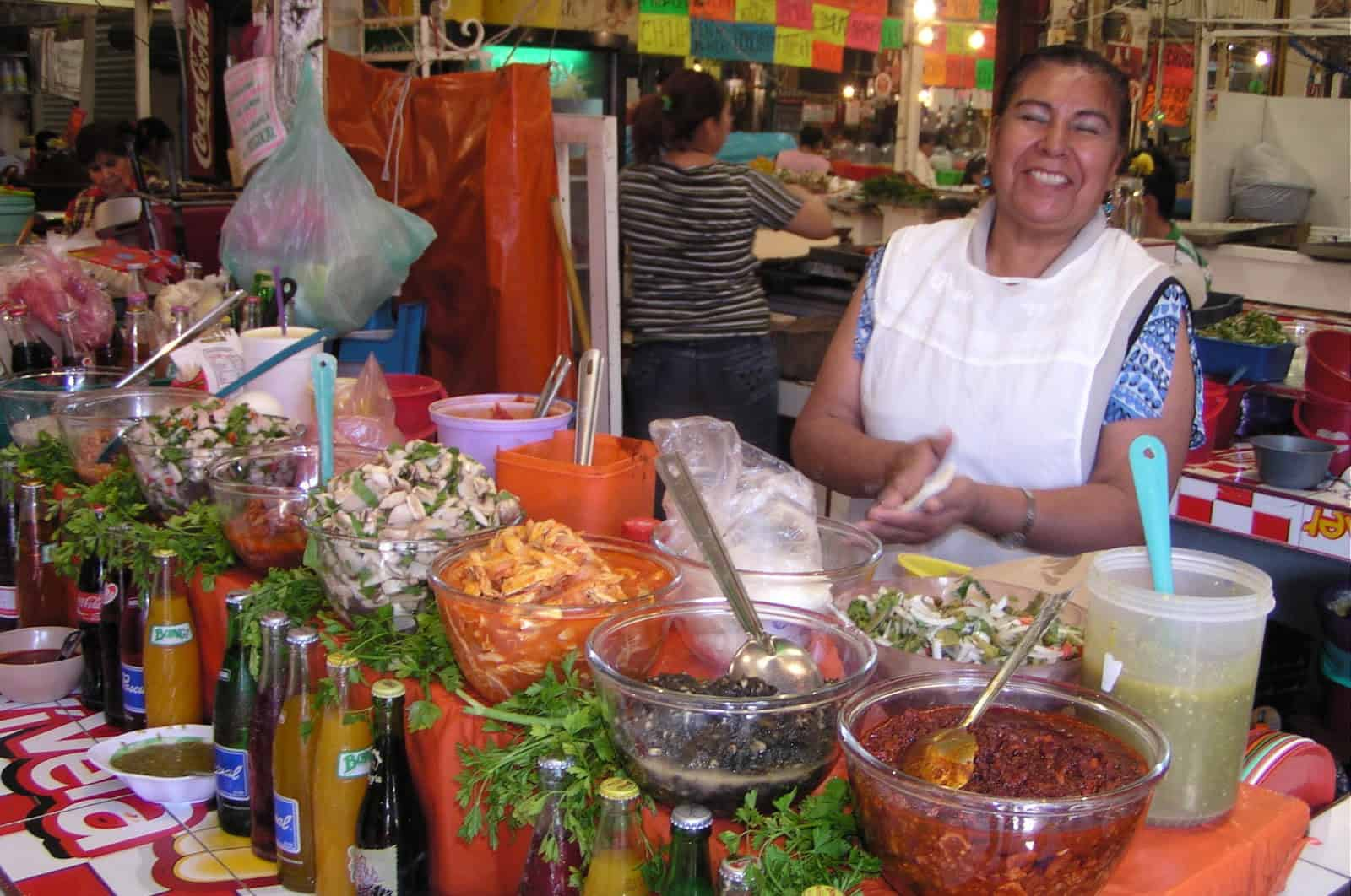 at the market getting some ingredients to make Mayan food Food in the Yucatan distinctively different than traditional Mexican