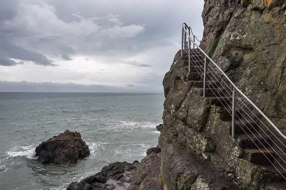 part of the Gobbins walk in N. Ireland