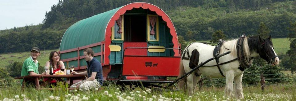 stay in a gypsy caravan in Ireland