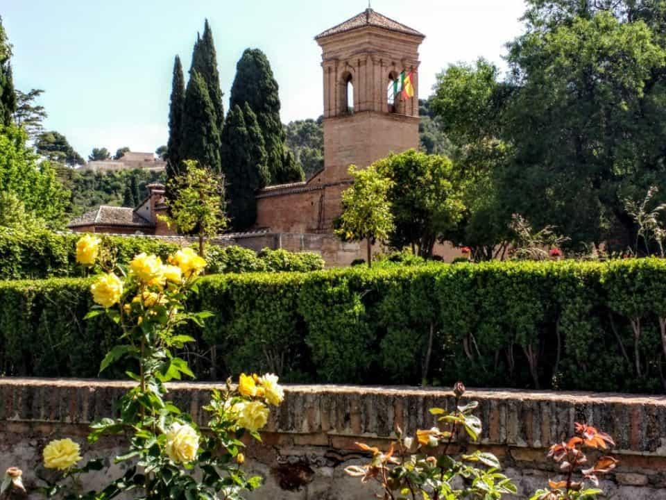 Alhambra Gardens in Granada