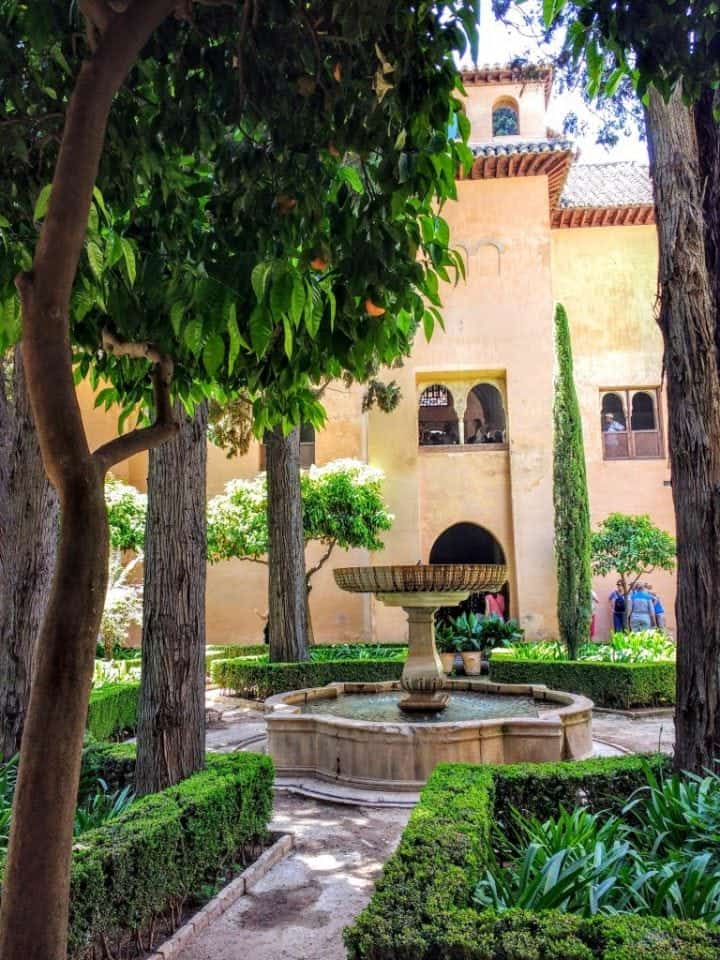 courtyard at the Nasrid Palaces The Alhambra