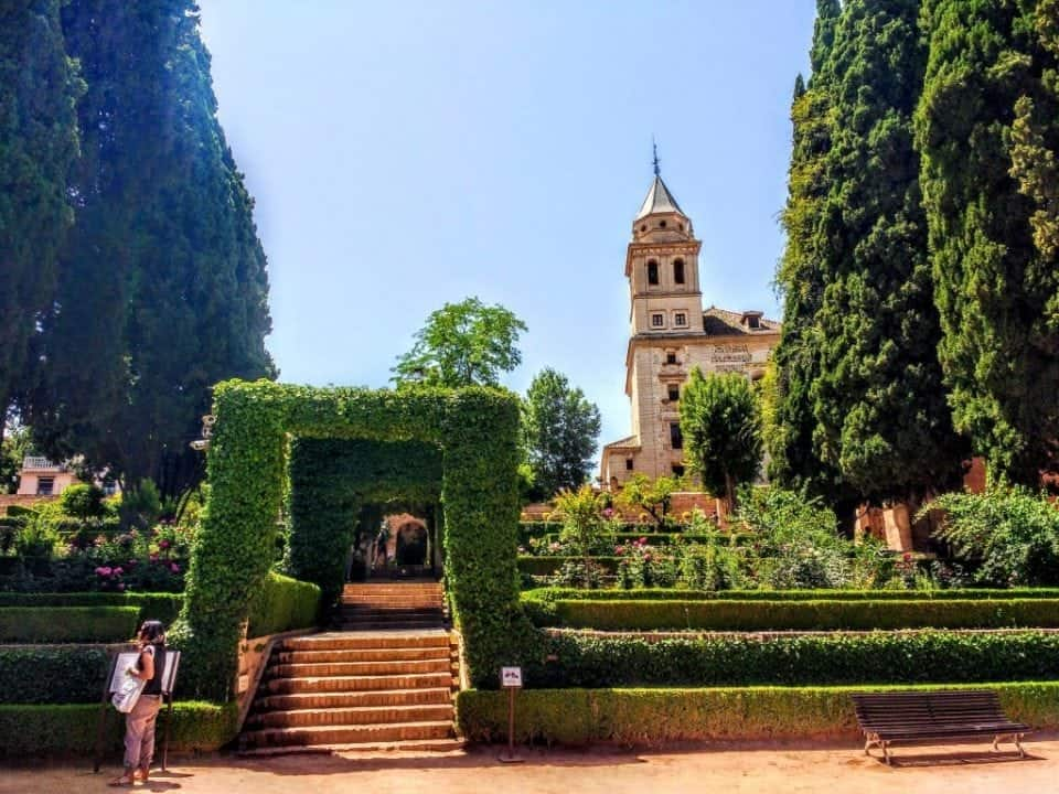 pathway to the Nasrid Palaces and the Alhambra palaces
