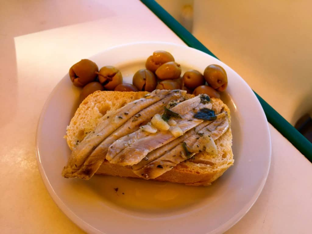 anchovies a traditional Andalusian cuisine dish