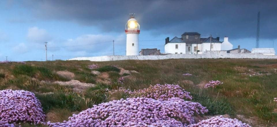 Loop head lighthouse where you can find puffins