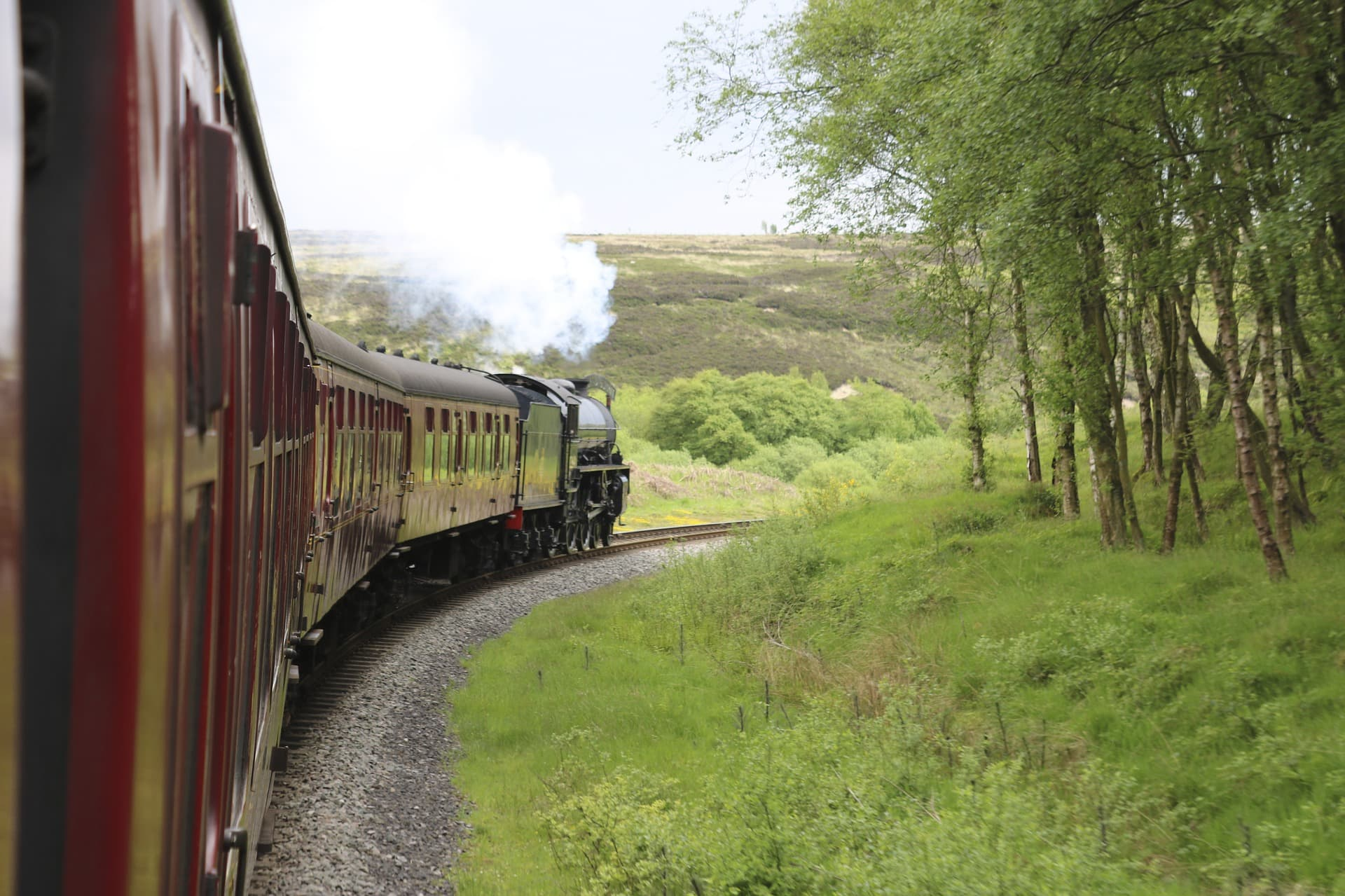 NYMR Steam railway in North Yorkshore