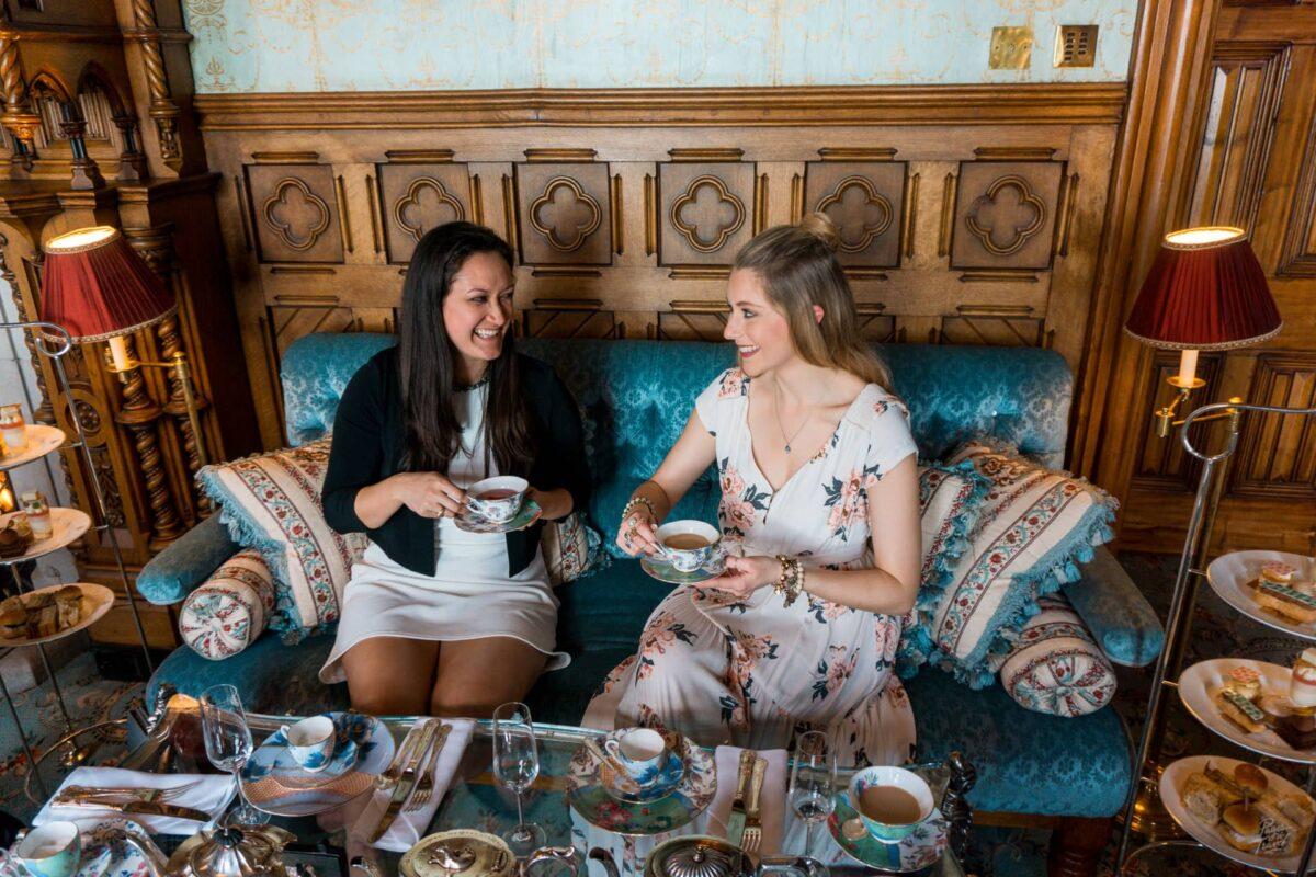 Taking tea at Ashford Castle near Cong