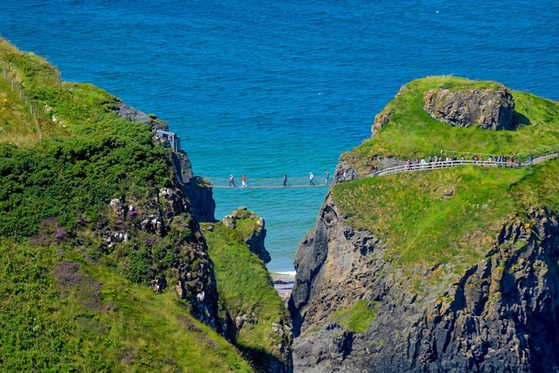 Carrick a Rede rope bridge on the Causeway Coast of N. Ireland places to visit in IReland