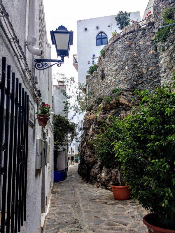 entering into Mojacer Pueblo Spain