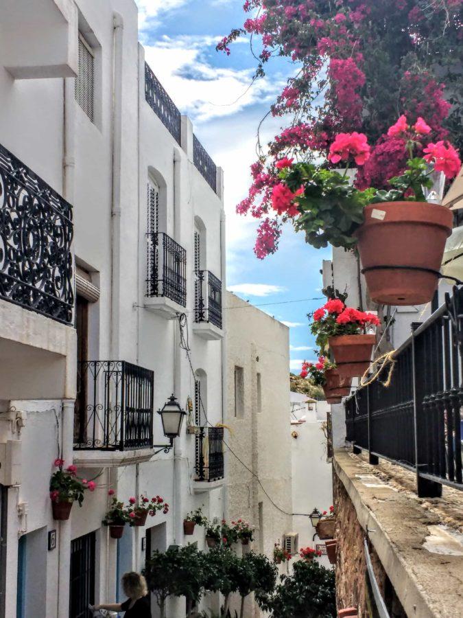 Mojacer Spain streets in the Pueblo Mojácar