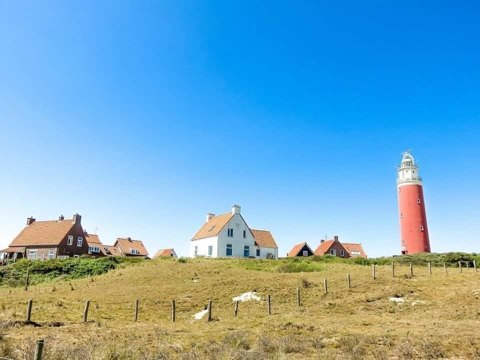 Texel just outside of Amsterdam a lighthouse