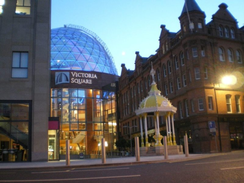 Belfast-Victoria-Square-at-night