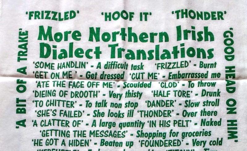 Irish slang tea tower