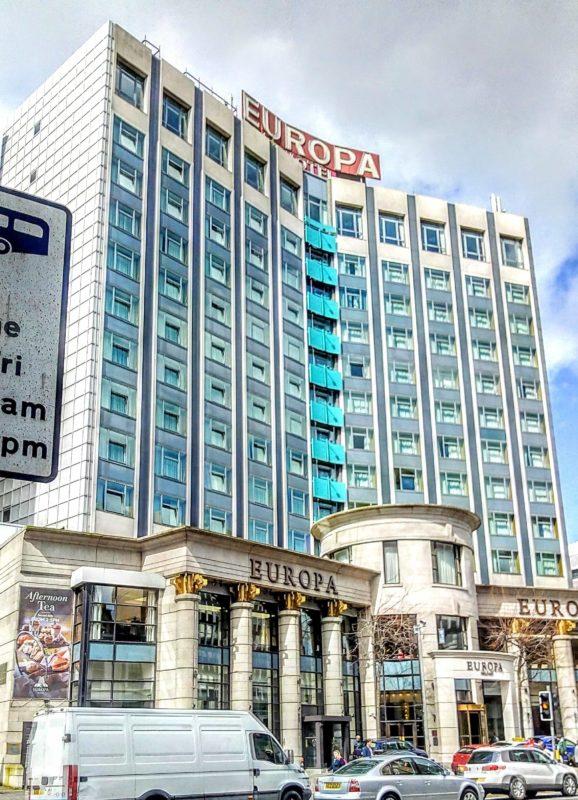 the Europa hotel Belfast