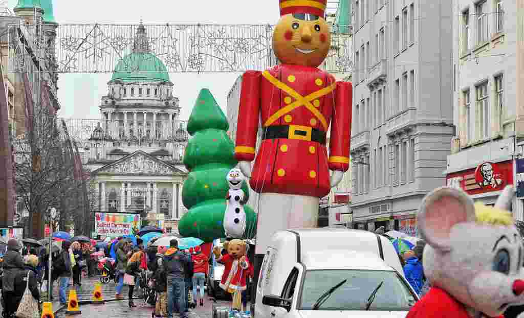 Santa Claus Parade in Belfast