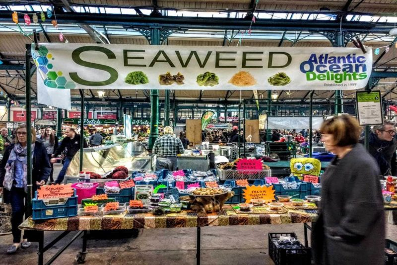A seaweed stall in Belfast's St. George's Market what to do in Belfast