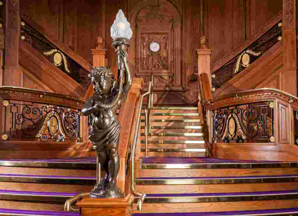 Belfast's biggest tourist trap the Titanic grandstaircase - Ireland's tourist traps