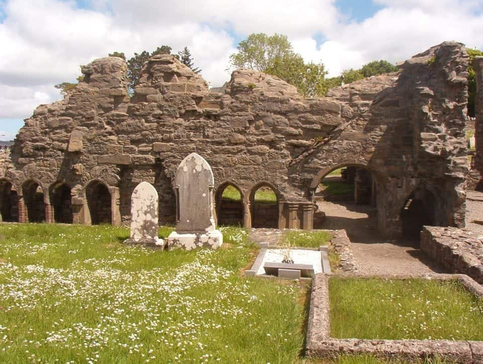 The Donegal Abbey ruins