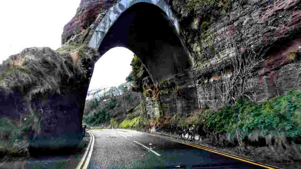 the black arch on the Causeway Coast Route
