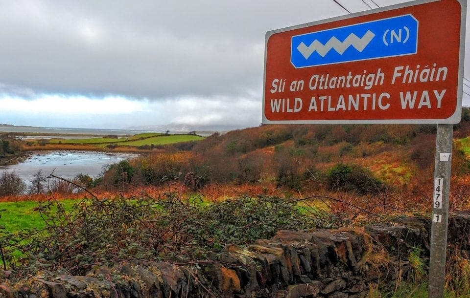 Wild Atlantic Way sign near Donegal Town