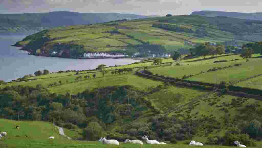 view of Cushendun from the road Ireland's causeway coastal itinerary