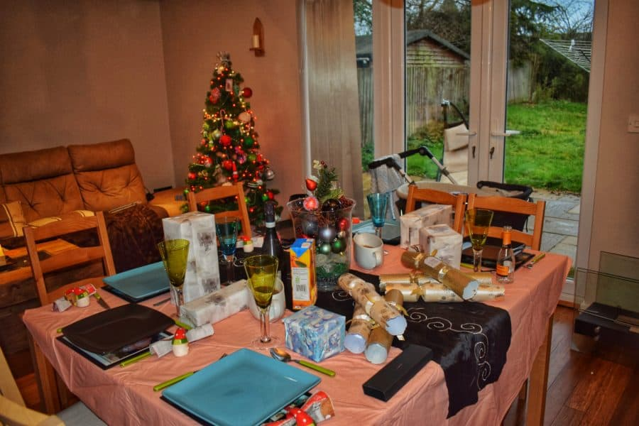 a St. Stephens day Feast with a table set for lunch
