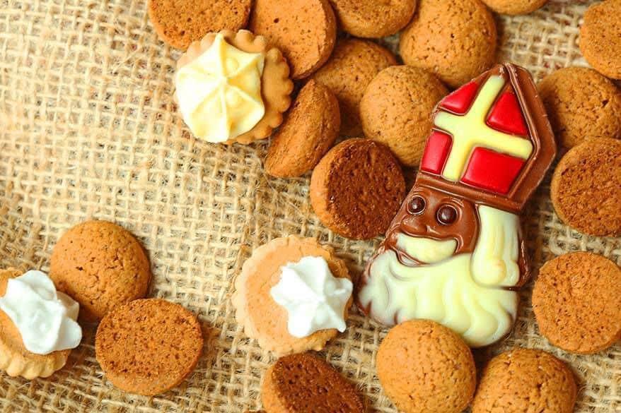 Sinterklass cookies on a plate