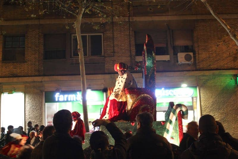 a parade for 3 kings day in Spain