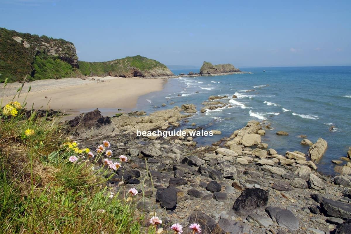 Monkstone Beach beautiful beaches of Pembrokeshire Wales