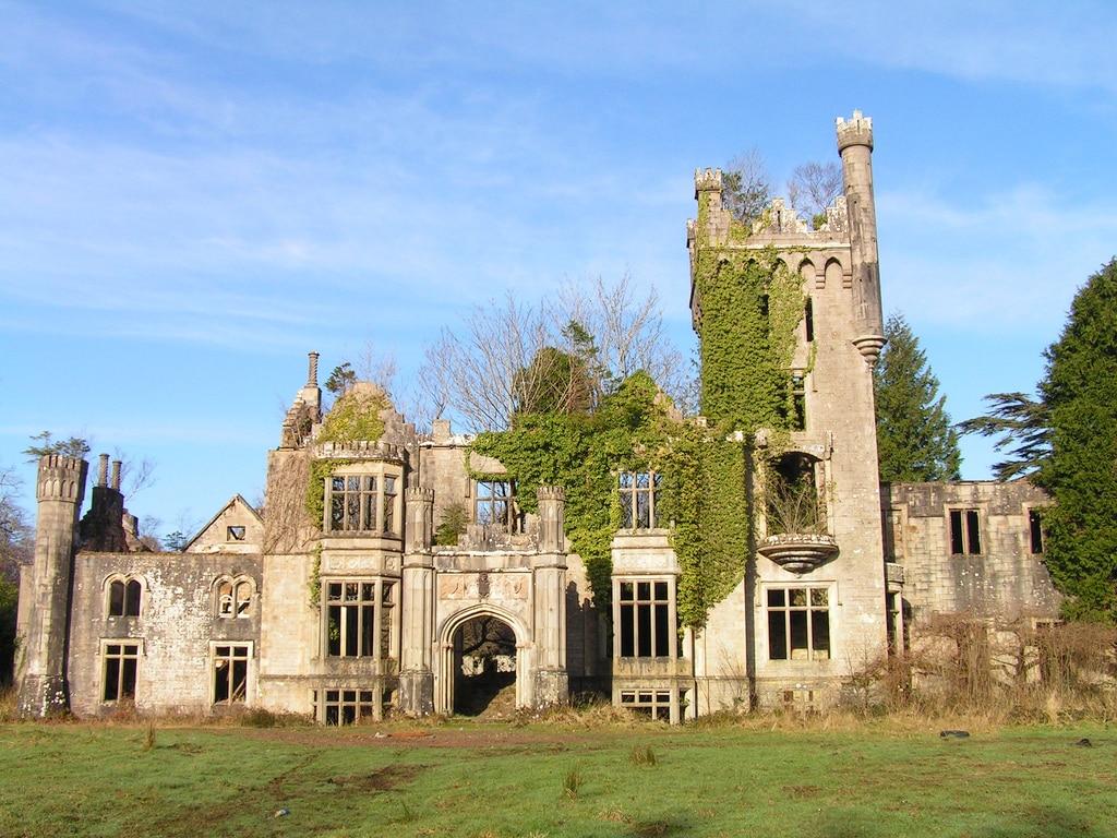 Lough Eske Castle ruins before the restoration