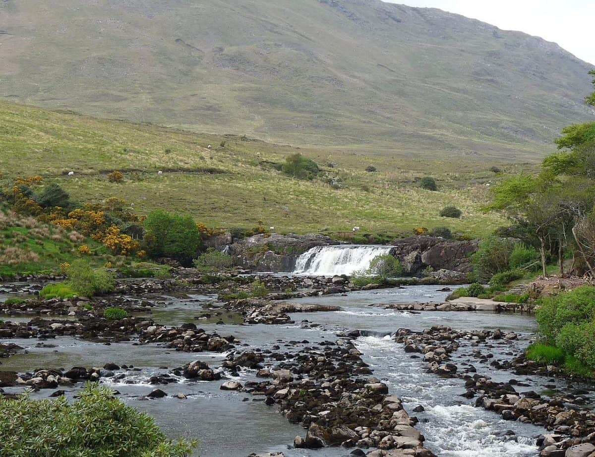 waterfalls at Killary Fjord