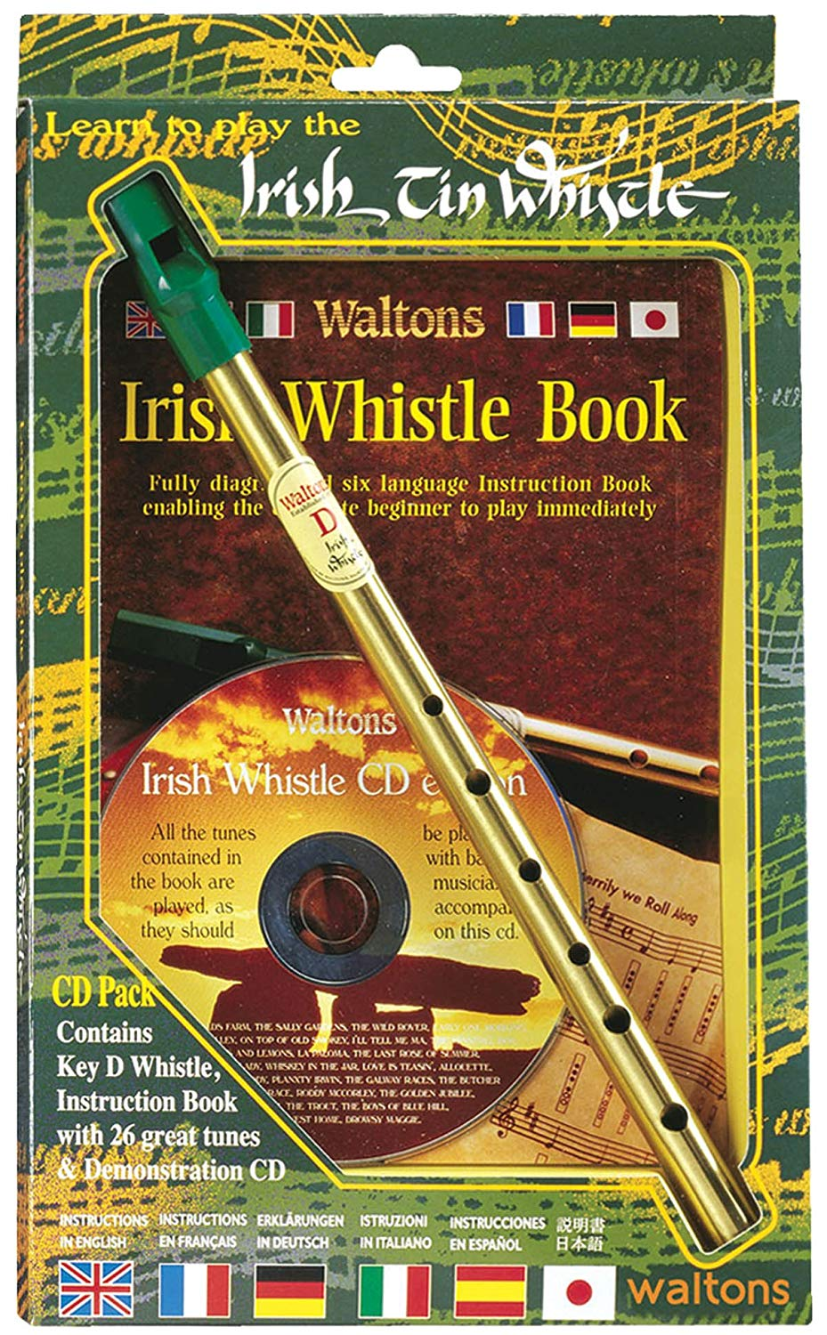 gift of an Irish tin whistle with CD and song book, my Irish gifts