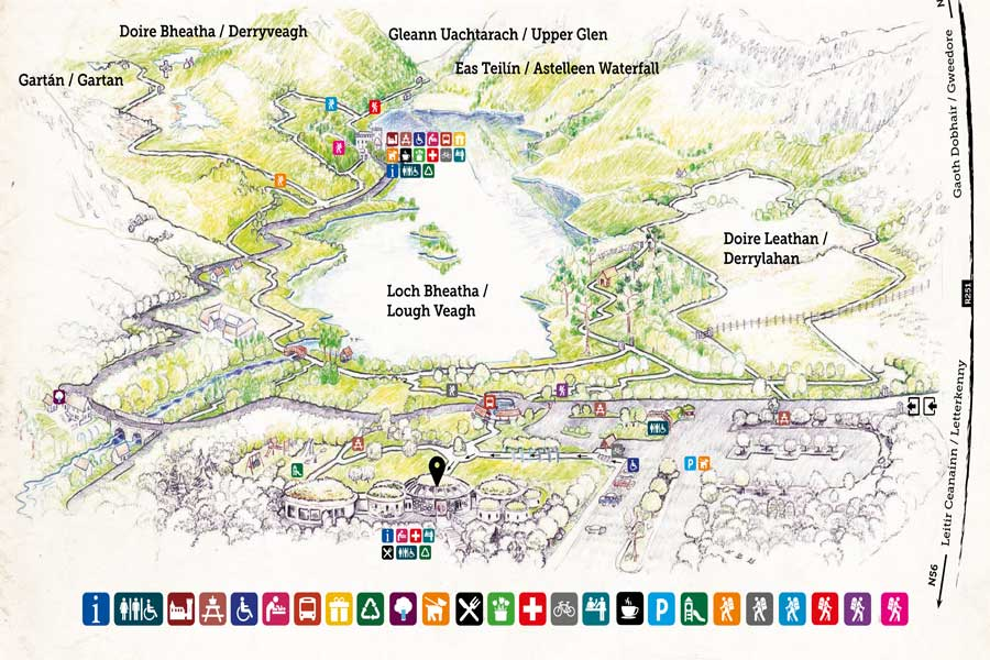 Glenveagh National Park Walking Maps