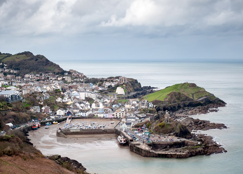 seaside holidays in Ilfracombe N. Devon view of village and coastal areas