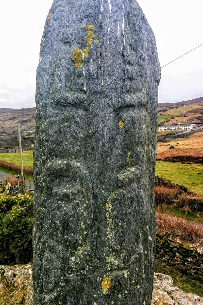 carved finger of rock in Glencolmcille