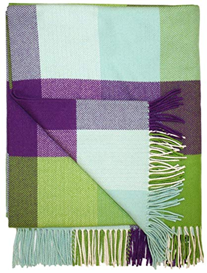 a soft Avoca throw in purple, turquoise and green my Irish gift guide